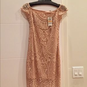 NWT MATERIAL GIRL LACE PINK DRESS! Express shippin